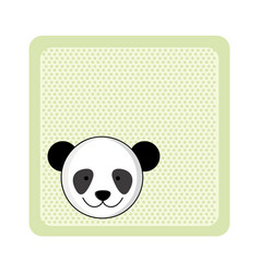 colorful greeting card with picture panda animal vector image