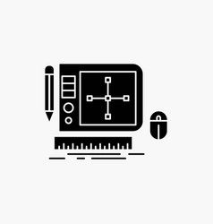 design graphic tool software web designing glyph vector image