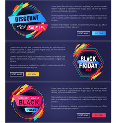 discount offer black friday vector image