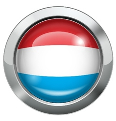 Dutch flag metal button vector
