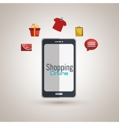 e-commerce from smartphone isolated icon design vector image
