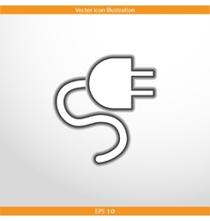 electrical plug web icon vector image