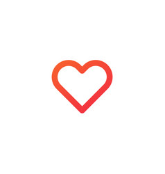 favorites heart minimal flat linear icon line vector image