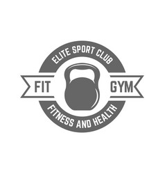fitness sport club isolated black emblem vector image