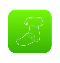 Footwear icon green vector