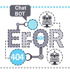 Free chat bot fixing error robot virtual vector