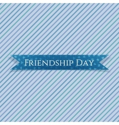 Friendship Day realistic textile Ribbon vector