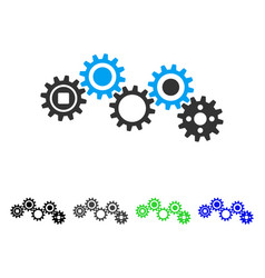 Gear mechanism flat icon vector