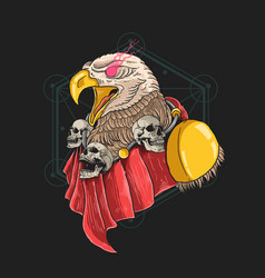Guardian eagle angry head heroes vector