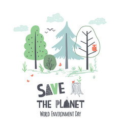 hand draw earth day vector image