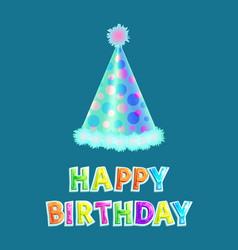 Happy birthday cone cap set vector