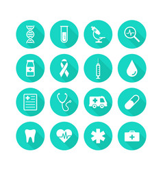 healthcare and medical icons set icons health vector image