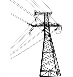 high voltage electric line vector image