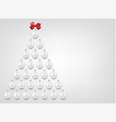 holiday background with white christmas balls vector image