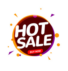 Hot sale speech bubble banner promo sign discount vector