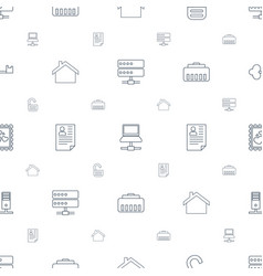Internet icons pattern seamless white background vector