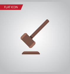 Isolated justice flat icon tribunal vector
