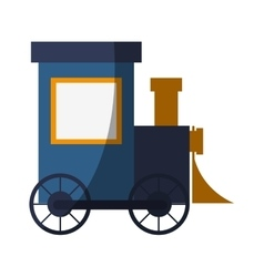 Isolated train toy design vector image