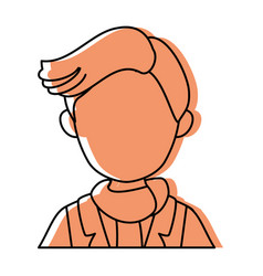 isolated upperbody young man vector image