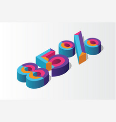 Isometric 85 percent off 3d sale background vector