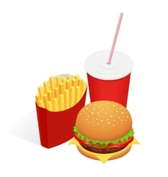 isometric food burger vector image