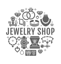 Jewelry shop diamond accessories banner vector