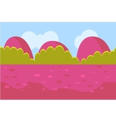 Landscape cartoon red and green seamless vector