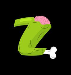 letter z zombie font monster alphabet bones and vector image