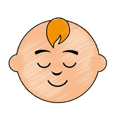 Little baby asleep character vector