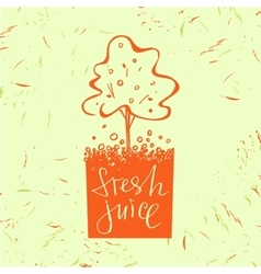Logo symbol for fresh juice Fruit tree Orange vector image
