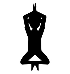 man in yoga pose silhouette icon vector image