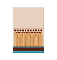 matchbox with matches sulphur head match set for vector image