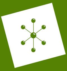 molecule sign white icon vector image