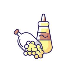 Mustard seeds rgb color icon vector