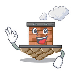 Okay brick chimney isolated in the character vector