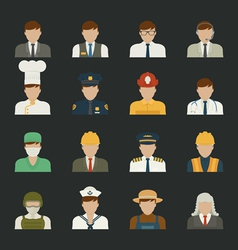 People icon professions icons worker set vector