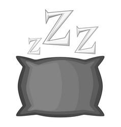 Pillow icon monochrome vector