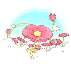 Poppy Flowers Background vector image