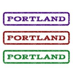 portland watermark stamp vector image