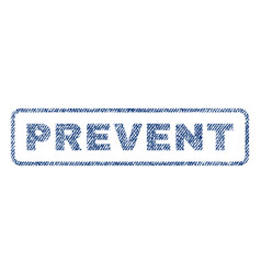 Prevent textile stamp vector