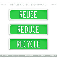 reuse reduce recycle eco concept vector image