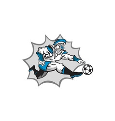 Roman Warrior Soccer Player Ball Retro vector