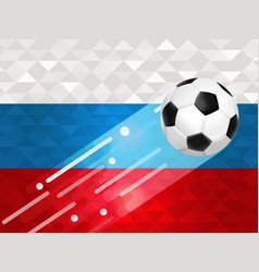 russian soccer ball background for russia event vector image