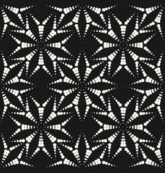 seamless pattern with dotted floral shapes asters vector image