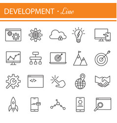 seo and development icon set vector image