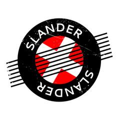 Slander rubber stamp vector