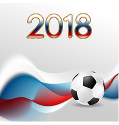 soccer world cup 2018 in russia abstract vector image