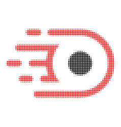 Speed core halftone dotted icon with fast rush vector