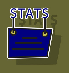 sticker statistics icon infographic chart symbol vector image