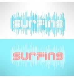surf typography with stripes T-shirt vector image